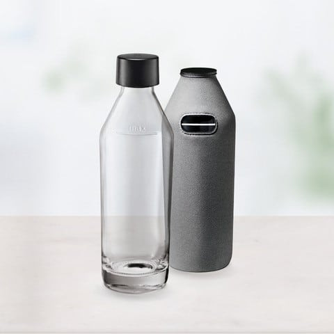 Sodapop Glasflasche mit Bottle-Shirt